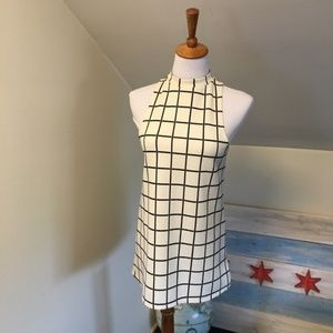 Cooperative Window Pane Halter Dress XS